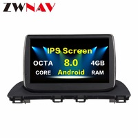 2 Din Android 8.0 4G Car multimedia Player Autoradio GPS Navigation head unit for Mazda 3 Axela 2014 car dvd player wifi Radio