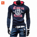 2016 New Fashion Autumn Men jogger suit Hoodies Casual Letters Print Hooded Jackets Men Korean Slim Fit Men Sweatshirt