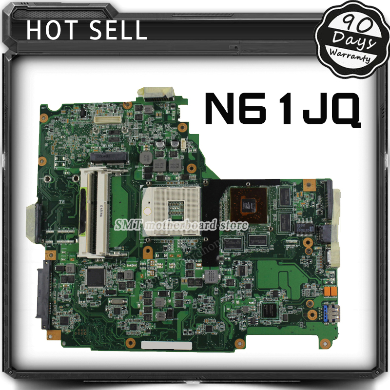 For ASUS N61JQ laptop motherboard mainboard N61JQ N61JA I7 cpu 100% Tested & Guaranteed v6j for asus vx1 laptop motherboard mainboard fully tested 100