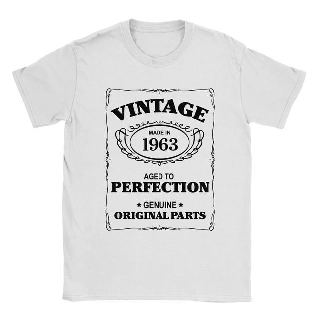100 Cotton Short Sleeve O Neck 55th Birthday T Shirt Born In 1963 Mens Present Gift Age
