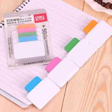 25 Sheets 4 Colors Write-On Removable Index Tab Sticker Book