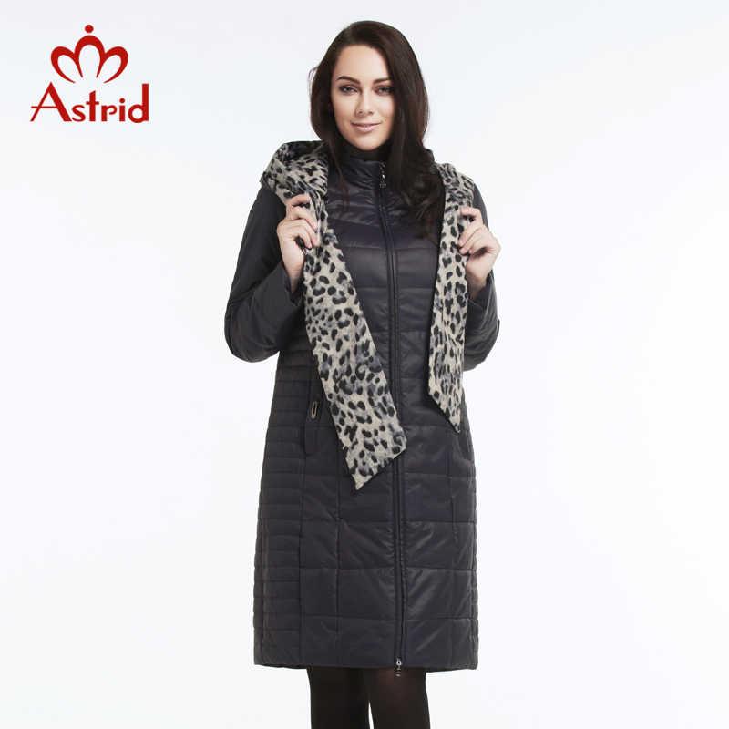 Астрид 2019 женское пальто больших размеров с капюшоном пуховик женский зима сплошной стеганый свободного покроя верхняя одежда демисезонная женщин укращение фигуры L-5XL AM-2606BW