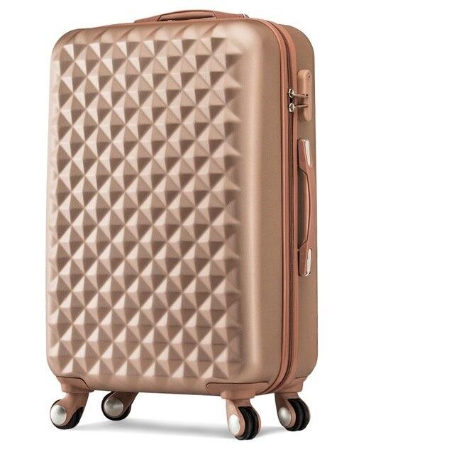 Diamond suface travel luggage trolley case box luggage female 20 24 26 inch