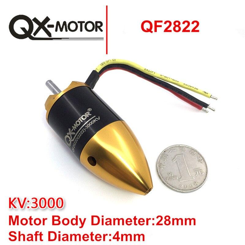 QX-motor QF2822D(2222) 3000KV Brushless Motor for 70MM Duct Fan EDF 64mm duct fan 4800kv brushless motor