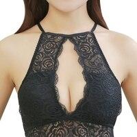 Women Sexy Lace Stripes Lingerie Underwear Women Bra Collection Harness Top Halter Tank Camisoles