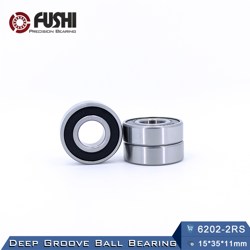 6202RS Bearing ABEC-3 (4 PCS) 15*35*11 mm Deep Groove 6202 2RS Ball Bearings 180202 RZ 6202 2RZ EMQ Quality 6306rs bearing abec 3 1 pcs 30 72 19 mm deep groove 6306 2rs ball bearings 6306rz 180306 rz rs 6306 2rs emq quality