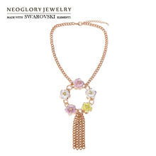 Buy flower swarovski necklace and get free shipping on AliExpress.com f0b759ad4518
