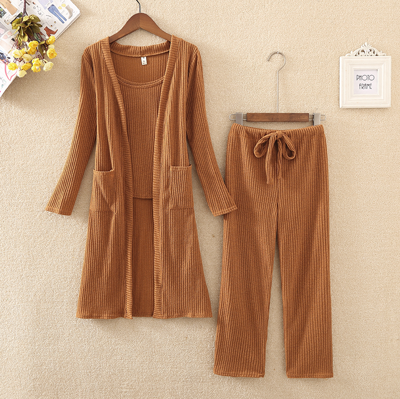 Plus Size 4xl Ladies Fashion 3 Piece Set 2019 New Spring Autumn Outfits For Women Solid Knitted Suit Set Korean Casual Clothes