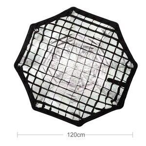 "Image 2 - Godox rejilla individual para paraguas, 120 cm/47 "", 120 cm, negro, Softbox octagonal para estudio fotográfico, Flash Speedlight Riflettore"