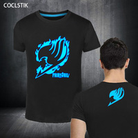 100 Cotton Childrens Men S Summer Fluorescent Anime Fairy Tail T Shirt Streetwear Male Luminous In