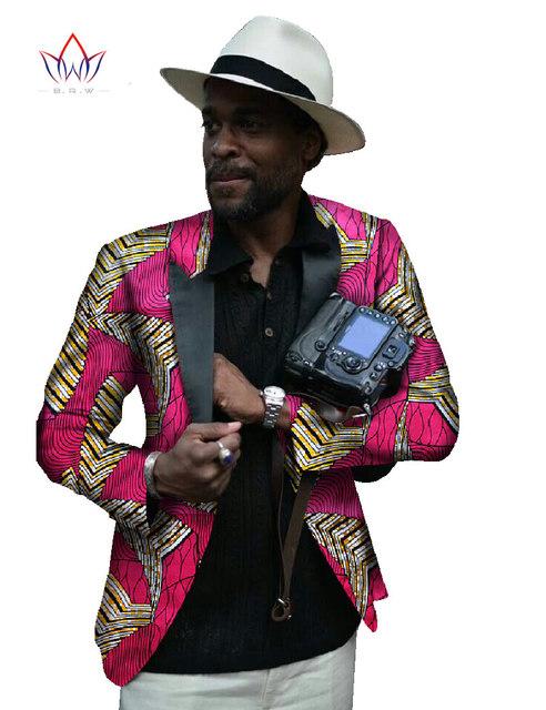 Ropa Tradicional africana Impresión de Algodón Traje de Los Hombres Capa de la Chaqueta de Los Hombres de Moda Casual Chaqueta de Los Hombres Ropa de la Marca Delgado Elegante WYN35