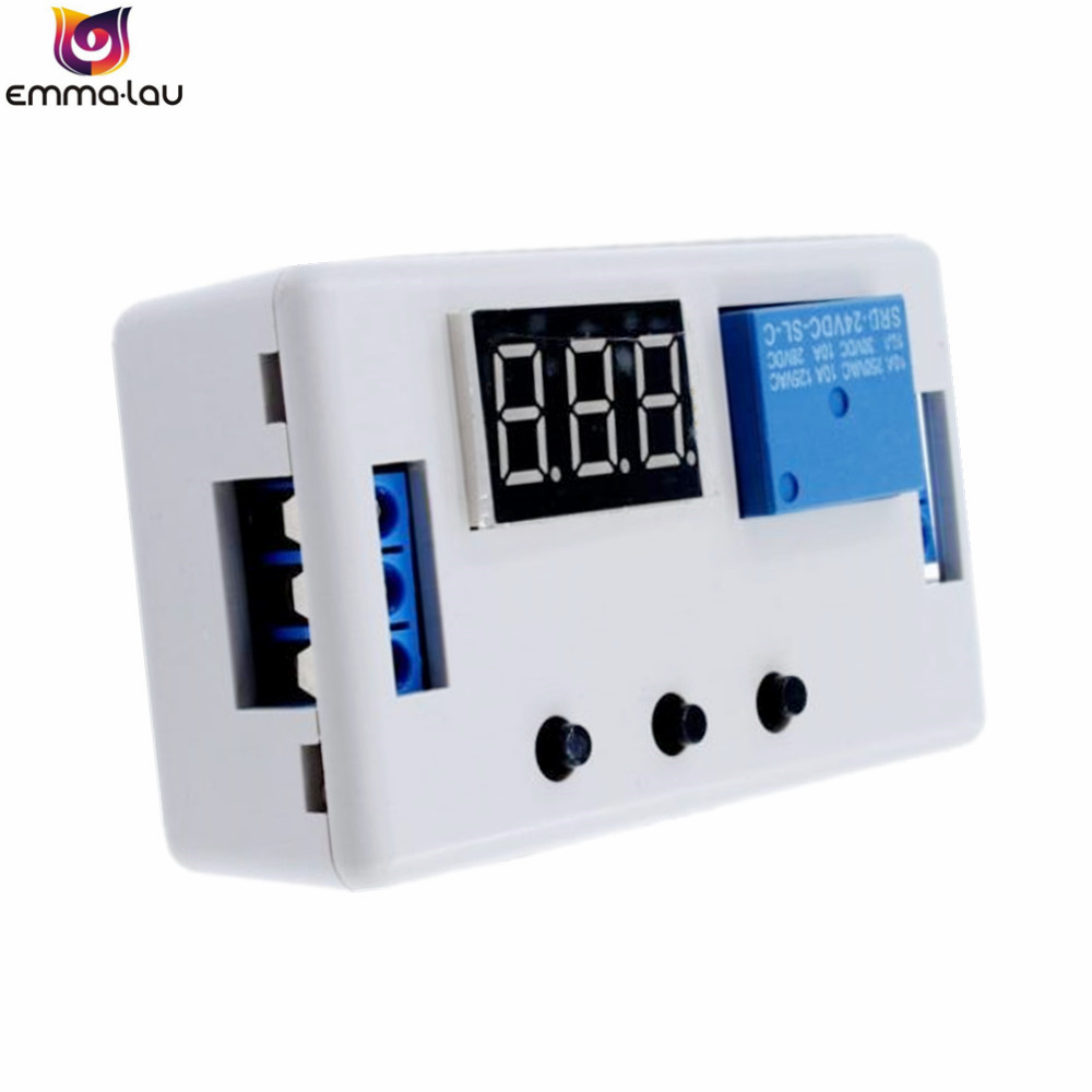 DC12V Digital LED Display Time Delay Relay Automation Self-lock Delay Timer Control Switch Relay Module With Case free shipping 12v timing delay relay module cycle timer digital led dual display