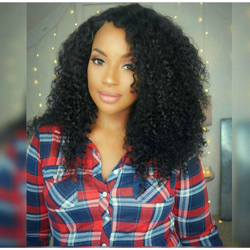 ФОТО Jenner Synthetic Wig Kinky Curly Lace Front Wig Without Baby Hair Cosplay Black Wig Synthetic Lace Front Wig High Quality