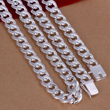Men's 24'' 60cm 10mm 925 Sterling silver necklace 115g solid snake chain n011 gift pouches(China)