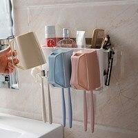 Практичная настенная Съемная домашняя ванная многофункциональная стойка держатель для зубной щетки многофункциональная стойка настенная
