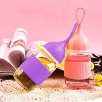 Cute Mini Portable Lead Free Glass 300ml Water Bottle Travel Water Leak Proof Bottle Gift 2