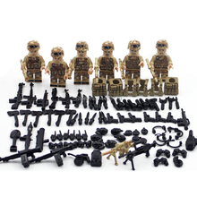 LegoINGlys military WW2 US army Special forces Red Sea Counter terrorism war Building Blocks mini soldier figure brick toys gift цена