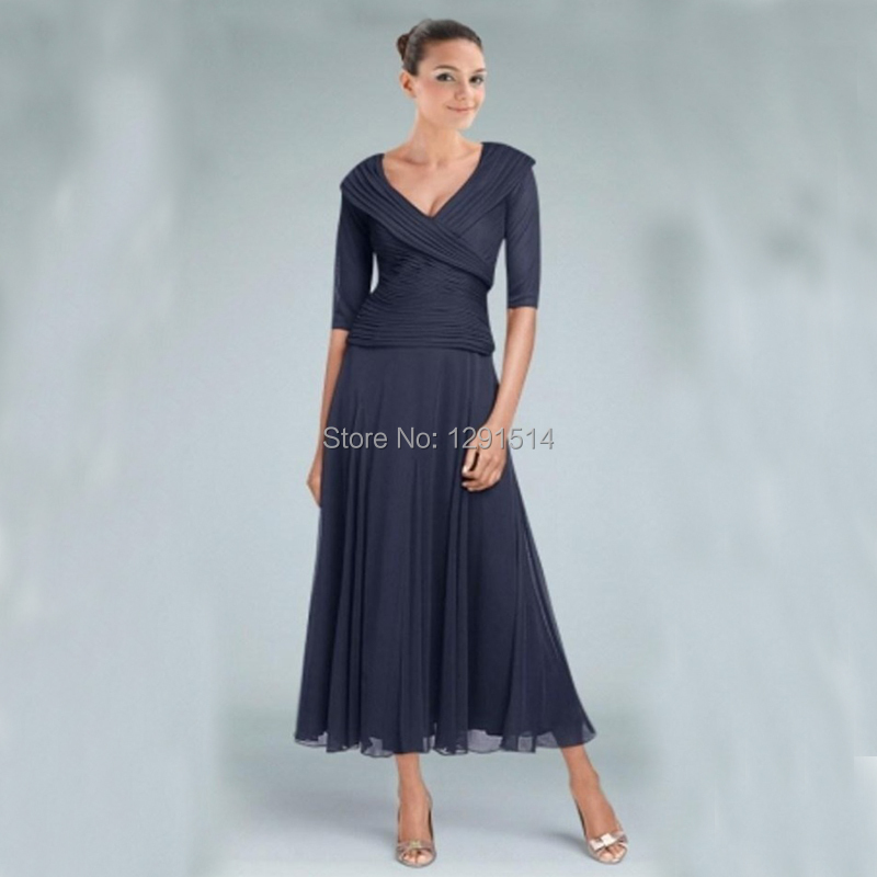 Tea Length Mother of Bride Dress