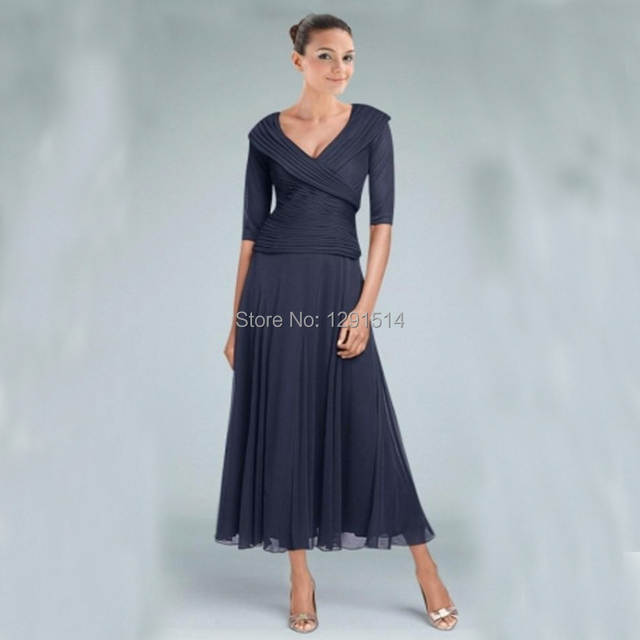 Tea Length Mother Of The Bride Groom Dresses For Wedding Party Guest