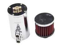 OSIAS BLACK BAFFLED ALUMINUM OIL CATCH CAN 3 8 OIL CATCH CAN RESERVOIR TANK WITH BREATHER
