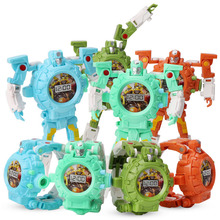 Cartoon Watches Kids Cute Boys Robot Transformation Toys Deform Sport Watch Toy For Gifts