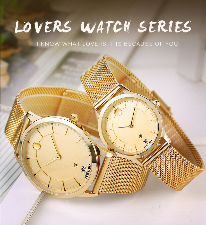 Lover's Watches 2019fashion Unique Men Women Quartz Watches Cool Full Stainless Steel Couples Lovers Watch Ladies Dress Wristwatch Men Watches C 100% High Quality Materials