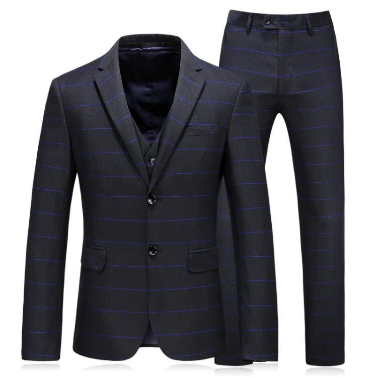 Jacket Vest Pants 2019 Trajes Para Hombre Slim Fit Cappotto Della Banda Smoking Prom Abiti Classici Vestito Pieno Formato in Suits from Men 39 s Clothing