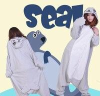 Gorący uszczelnienie kigurumi zwierząt fancy dress kostium cosplay kapturem piżamy piżamy hurtownie