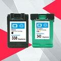 338XL 343XL Восстановленный чернильный картридж Замена для HP 338 343 для HP338 Deskjet 5740 6520 6540 6840 Photosmart 8150