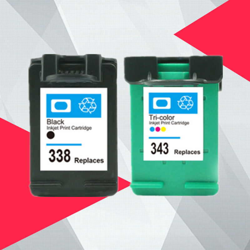 338XL 343XL Remanufactured Ink font b Cartridge b font Replacement for HP 338 343 for HP338