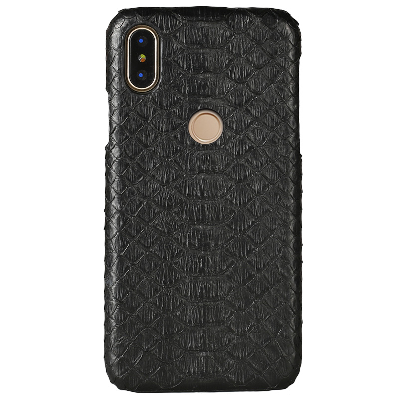 Natural Python Skin Phone case For Xiaomi Mi Max 3 Mix 2S 8 A1 A2 Lite 100% Genuine Leather For Redmi Note 5 Pro 4X 5A 5 Plus