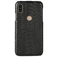 Natural Python Skin Phone case For Xiaomi Mi Max 3 Mix 2S 8 A1 A2 Lite Genuine Leather For Redmi Note 5 K20 Pro 4X 5A 5 Plus