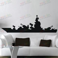 Free Shipping Wall Stickers Wholesale And Retail Wall Decor PVC Material Decals Wallpaper Battleship Z 96