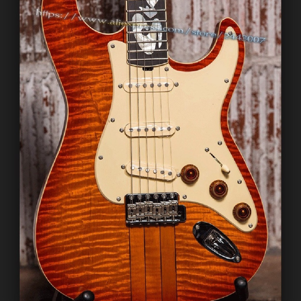 GC Custom Shop Limited Edition1984 Stevie Ray Vaughan & Billy Gibbons SRV 001 Hamiltone Electric Guitar Sunburst firehawk custom shop relic billy gibbons pearly gates mahogany body standard electric guitar