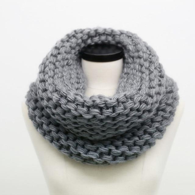 SUMEIKE мода зима кабель кольцо шарф Для женщин дамы шарфы 2018 теплый вязаный Теплый шеи Круг шарф bufandas cuellos