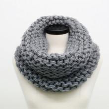 SUMEIKE Fashion Winter Cable Ring Scarf Women Ladies Scarves 2018 Warm Knitted Warm Neck Circle Scarf bufandas cuellos