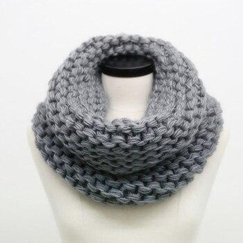 efdeb43d57d4 SUMEIKE moda invierno Cable anillo bufanda mujeres señoras bufandas 2018  caliente tejido cálido cuello círculo bufanda bufandas cuellos