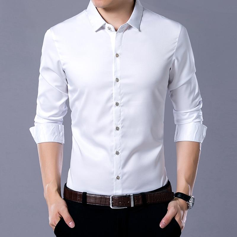 New 2017 spring autumn dress shirts high quality mens for High quality mens shirts