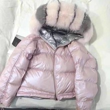 Лисий глянцевое куртка пальто