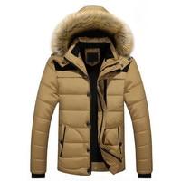 2018 Winter Men Parka Coat Men Overseas Fur Hood Male Jacket Cold Casual Parks M 5XL