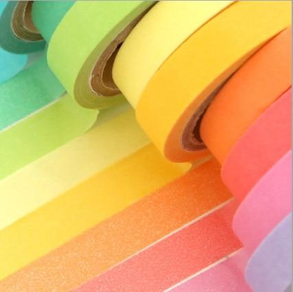 10pcs/set Wholesales Art Home Colorful Tape Set Masking Tape Scrapbook Decorative Paper Adhesive Tools Sticker DIY OBT007