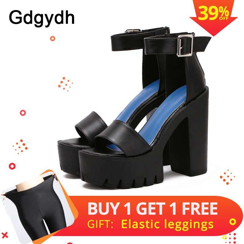 36ff9e9b4543 Gdgydh Drop Shipping White Summer Sandal Shoes for Women 2019 New Arrival  Thick Heels Sandals Platform