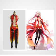 Anime Guilty Crown Cosplay Costumes Inori Yuzuriha Cosplay Costume Combat Uniform Halloween Carnival Party Women Cosplay Costume anime guilty crown backpack cosplay yuzuriha inori shu ouma canvas bag schoolbag travel bags