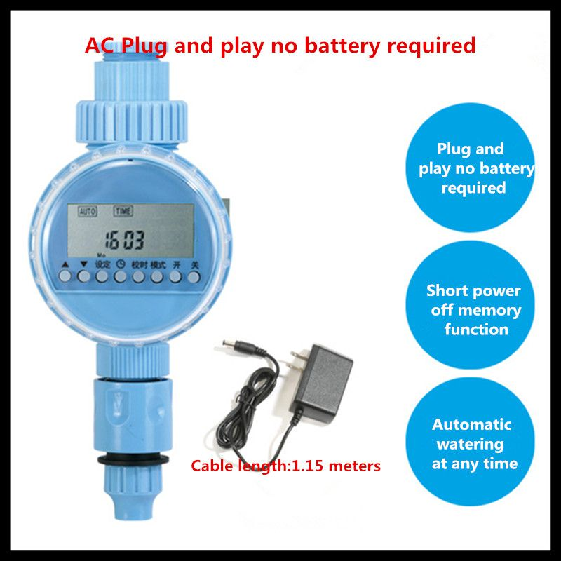 все цены на Micro-spray automatic spray smart timer (plug electric timer plus connector) automatic timer irrigation timer water controller онлайн