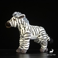Plush Doll Toys Baby Simulation Stuffed Animal Toy African Zebra Dolls