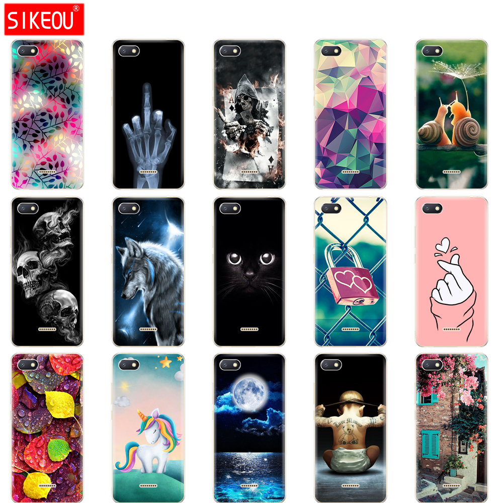 Silicone case For xiaomi Redmi 6a Case Full Protection Soft tpu Back Phone Cover for xiaomi Redmi 6 A bumper Hongmi 6a Coque Cat