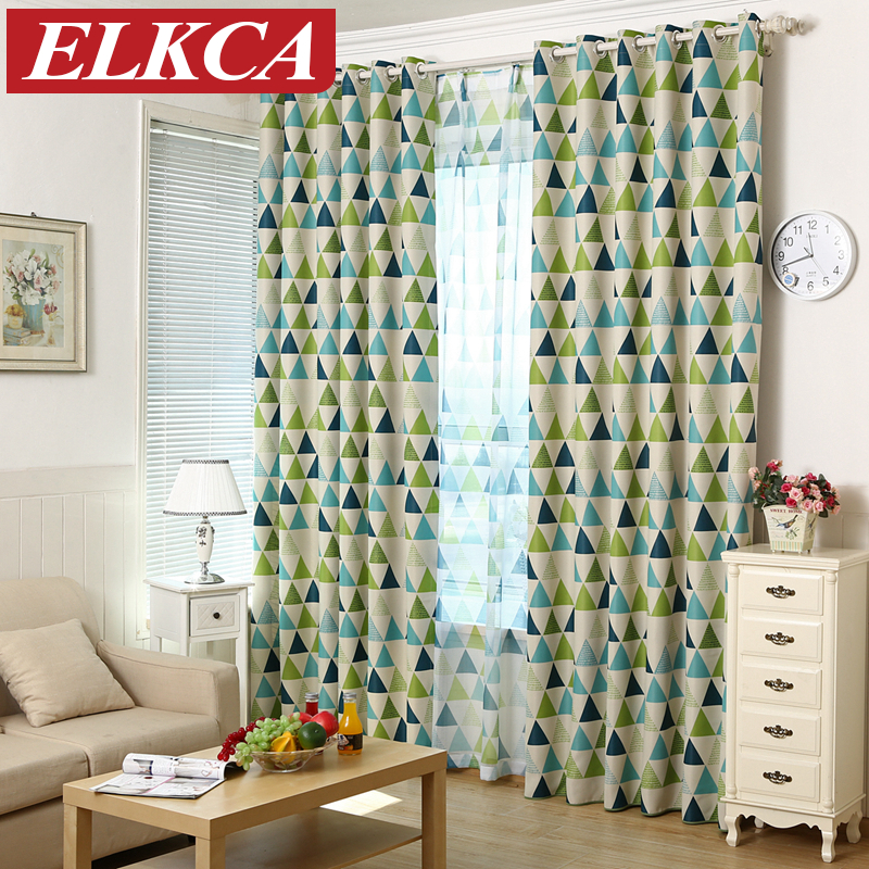 Buy new geometric printed blackout - Childrens bedroom blackout curtains ...