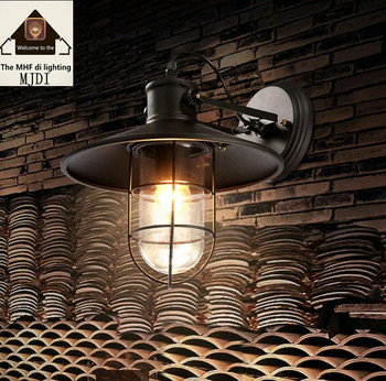American Retro Country Loft Style LED lamps Industrial Vintage Iron wall light for Bar Cafe Home Lighting