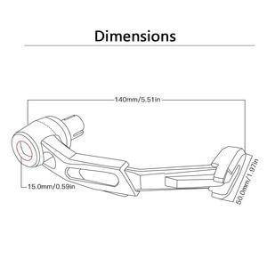 """Image 4 - 7/8 """"22mm CNC moto Proguard système frein embrayage leviers protéger garde pour Ducati monster 400 620 monstre 620mts monstre 696"""
