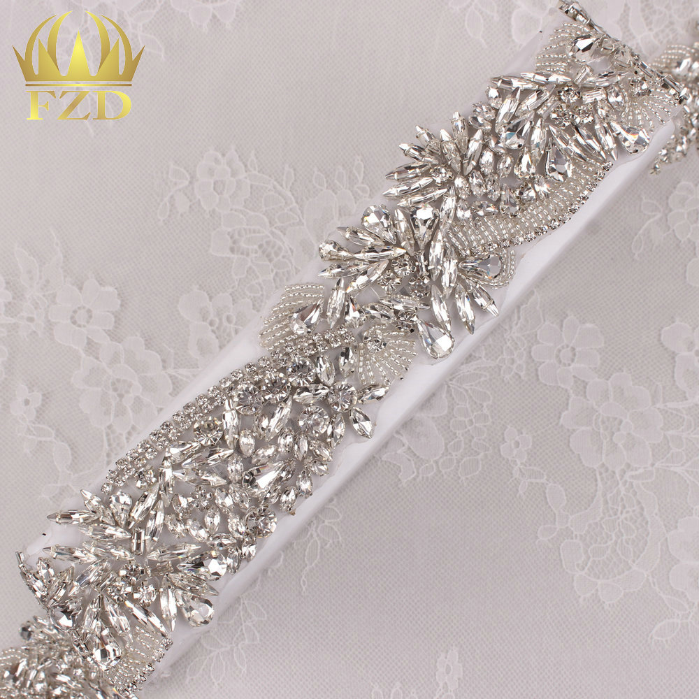 (10yards) Wholesale 1 Yard Beaded Bridal Sewing Hot Fix Handmade Rhinestone  Appliques and Trim c1deab1766a2